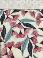 """Eucalypt Blossom Baby Blanket Bassinet 80cm x 60cm (33""""x 25"""") Minkee Dot Back"""
