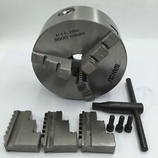"6"" 3 Jaw Lathe Chuck Self-Centering K11-160 160mm Chuck Hardened Steel for Lathe"