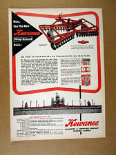1958 Kewanee Farm Implements Disc Harrow attachments vintage print Ad