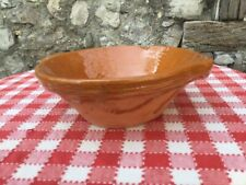 """French 8"""" Terricota pottery gresalle tian bowl Provence Brick Red Earthenware"""