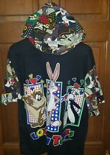 Vintage 1994 Looney Tunes short sleeve hoodie with hearts for women size med