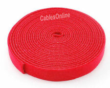 Wrap Hook & Loop Cable Tie 15 ft./Roll Red, CT-515RD