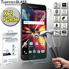 2 Pack Tempered Glass Screen Protector Cover For Alcatel Pulsemix