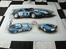 Shelby Cobra Daytona Coupe Ford LE MANS DAN GURNEY 1965 Nuevo Arte Pintura Impresión +
