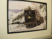 Southern Pacific In Donner Pass artist Illustrated  Color Railroad Archives 00