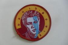 David Bowie round portrait artist Sew On patch music