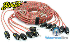 STINGER 6ft 2-Channel 9000 Series Premium RCA Audio Interconnect Cable SI926