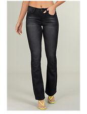YMI Denim Mid Rise Bootcut Black Stonewashed Juniors Sz 11 Womens Jeans Stretch