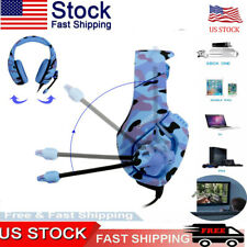 Camo Gaming Headset For Xbox One PC Headphone 3.5mm Stereo Sound Earphone w/Mic