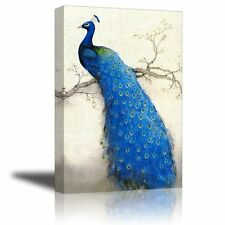 Oil Painting Peacock Tree Canvas Prints Bedroom Living Room Wall Art Home Decor