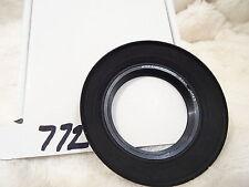 Nikon Canon Olympus 52 mm Grandangolo Paraluce Cappuccio in gomma bordo in metallo vintage