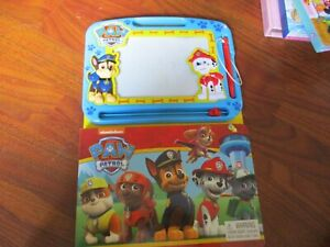 Paw Patrol Magnetic Drawing Board and Book Draw Pups Vehicles. Not Used