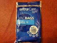 UltraCare VacBags Eureka U Ultra Allergen Canister Bags 3 Total 54338