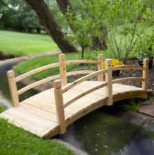 Outdoor Bridge Wooden 6 Foot Backyard Fir Wood Garden Walkway