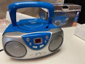 Sylvania SRCD243 Portable CD Player w/ AM/FM Radio Boombox Blue