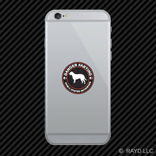 Danger Farting Curly Coated Retriever Cell Phone Sticker Mobile Die Cut