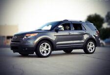 WellVisors For 11-19 Ford Explorer Black Trim Side Window Visors Rain Guards
