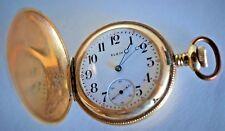 Antique ELGIN Pocket Watch ~ Gold Filled Engraved Full Hunter Case ~ 1891