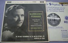 SXL 2234 KATHLEEN FERRIER RECITAL Bach Handel Arias UK DECCA WBG ED1