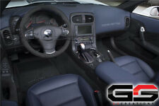 2012+ C6 Corvette Black Suede Steering Wheel With Blue Stitching