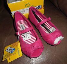 Smartfit Pink Rose Mary Jane Dress Wedge Peep Toe Shoes Toddler Girls Sz 6  NEW