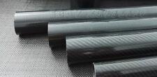 Od 13mm x Id 11mm x 1000mm (Roll Wrapped) Glossy 3k Carbon Fiber Tube Model Diy