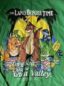 Vintage Land Before Time Universal Studios Long Sleeve T Shirt Size Mens Small