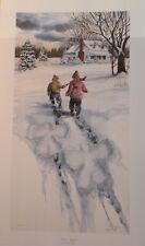 "Mike Capser Print ""SNOW ANGELS"" Limited Edition ARTIST PROOF # 83 of 99"