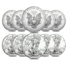 Lot of 10 - 2019 1 oz Silver American Eagle $1 Coin BU