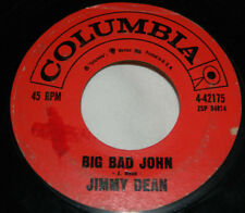 Jimmy Dean on Columbia / 45 rpm / Big Bad John / I Won't Go Huntin' With You