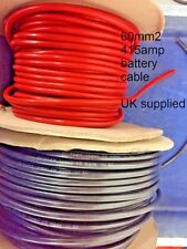 BLACK RED 60mm2 415AMP A PVC Copper welding flexible battery earth starter cable