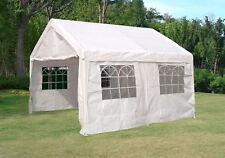 Profizelt Pavillon Festzelt Zelt PALMA 4x4 Meter, PVC weiss, Gestell verzinkt
