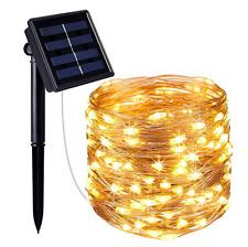 50-300LED Solar String Lights Waterproof 10-30M Copper Wire Fairy Outdoor Garden