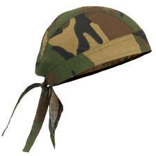 Mfh Headwrap hombre Doo Rag paintball militar Ejército Táctico Woodland Camo