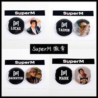 2pcs/set Kpop SuperM 1st Mini Album Badge Brooch Cute Chest Pin BEAKHYUN TAEYONG