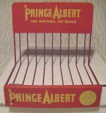 VINTAGE PRINCE ALBERT TOBACCO METAL RACK SIGN NATIONAL JOY SMOKE CIGARETTE VTG