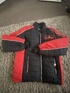 Retro Vintage Daiwa Jacket In Small Brand New Classic Red & Black Daiwa Coat Top