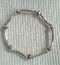 Golden Tube And Round Beaded Bracelet