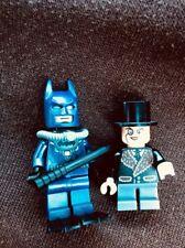 Batman Blue Scuba Suit W/ Flippers & The Penguin  Fur Coat Minifigure LOT 76010