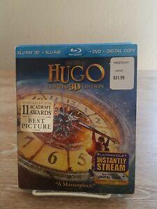 Hugo (Blu-ray/DVD/3D Bluray, 2012, 3-Disc Set, Limited 3D Edition W/ Slipcover