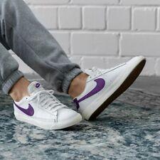 Nike Blazer Low Leather White / Purple Mens Shoes