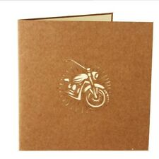 Day Paper Birthday Gift  Up Greeting Cards Motorcycle Greeting Cards 3D