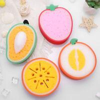 4PCS Bath Sponge Fruit Shaped Cute Body Cleaning Sponge for Babies Children Kids
