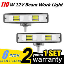 Pair 6Inch 48W 2LED Work Light Flood Beam Bar Car SUV Off Road Driving Fog Lamps