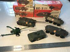 Vintage Die-Cast USSR Tanks Canon Personnel Carriers APCs Armor Russian 1:43