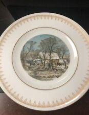 2 Currier And Ives Danbury Mint Plates
