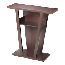 Side Table For Living Room. Console Accent Sofa Side Table Shelf Wood Entry Way Hallway Living Room  Espresso Tables eBay