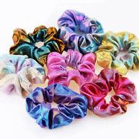 Colorful Glitter Bronzing Elastic Hair Rope Ponytail Holder Scrunchie Hair Ring