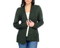 NEW OSO Casuals Sweater Knit Long Sleeve 2-Pocket Shawl Collar Cardigan