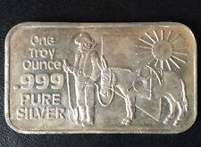 Nevada Coin Mart Prospector and Mule Silver Art Bar NCM-1 P2625
